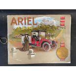 An Ariel cars sales brochure from 1909, featuring the Ranelagh Phaeton, the Badminton Phaeton and
