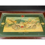 A very rare and early Shell pictorial showcard titled 'Motoring Pleasures' of excellent colour, 36
