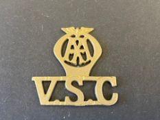 A rarely seen AA V.S.C. badge.