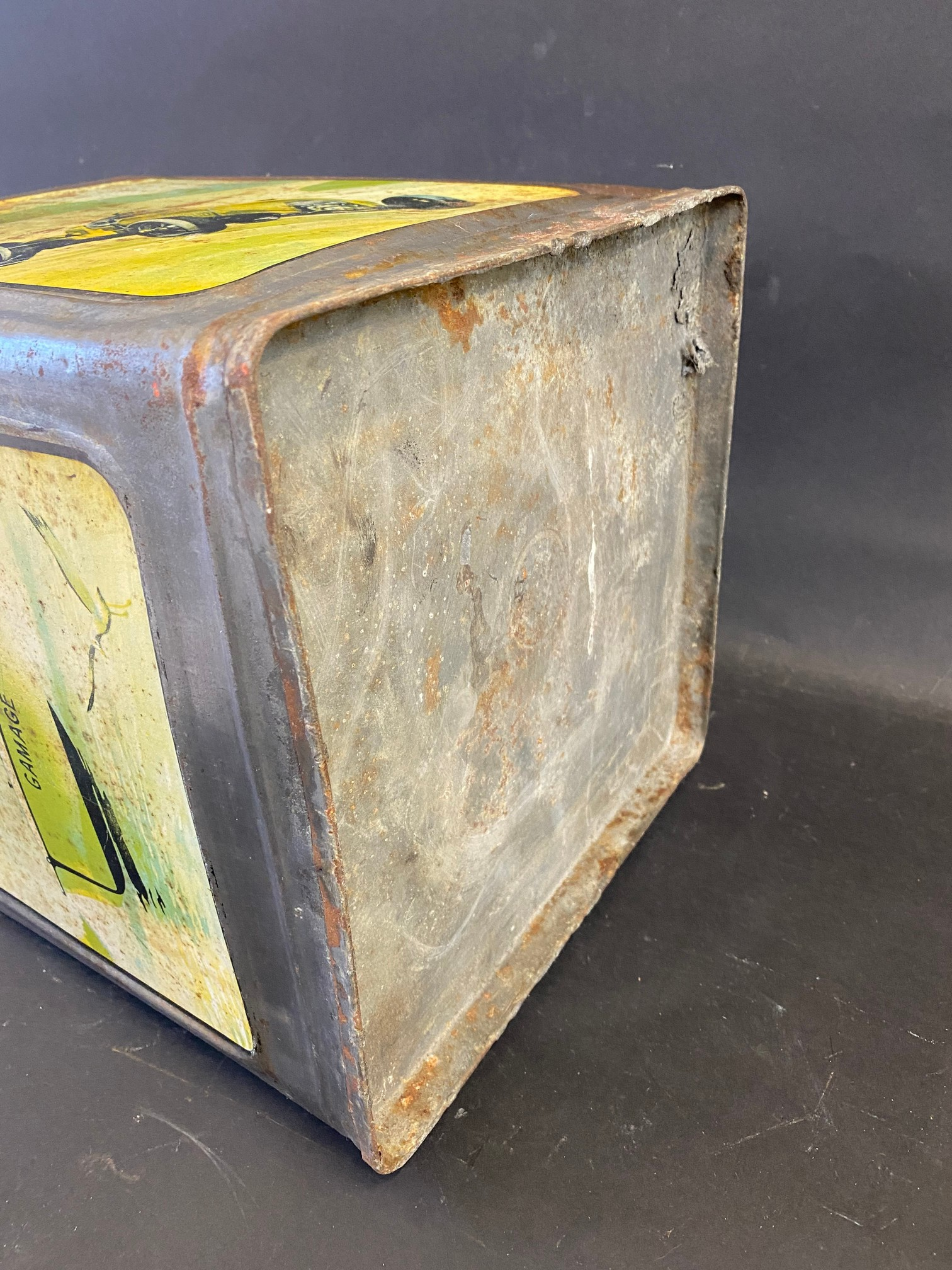 A Gamages Motor Oil five gallon pyramid can of good colour. - Image 4 of 4