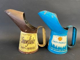 A Shell Anti-Freeze pint measure plus a Snowflake Anti-Freeze pint measure.