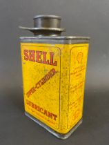 A Shell upper cylinder lubricant rectangular tin, in good condition.