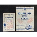A Dunlop Pneumatic Motor Tyres wheels & rims Wholesale list from Season 1919 plus a matching