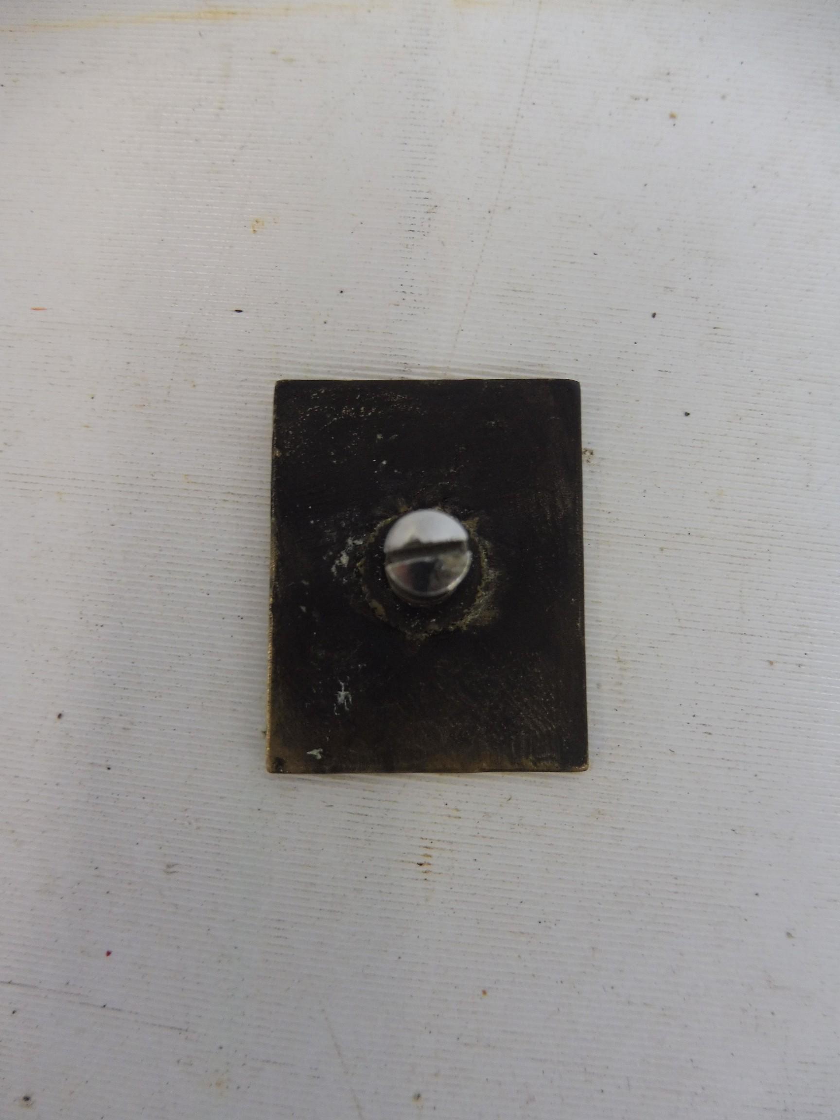 A JB Jack Barclays RR Rolls-Royce brass badge. - Image 2 of 2