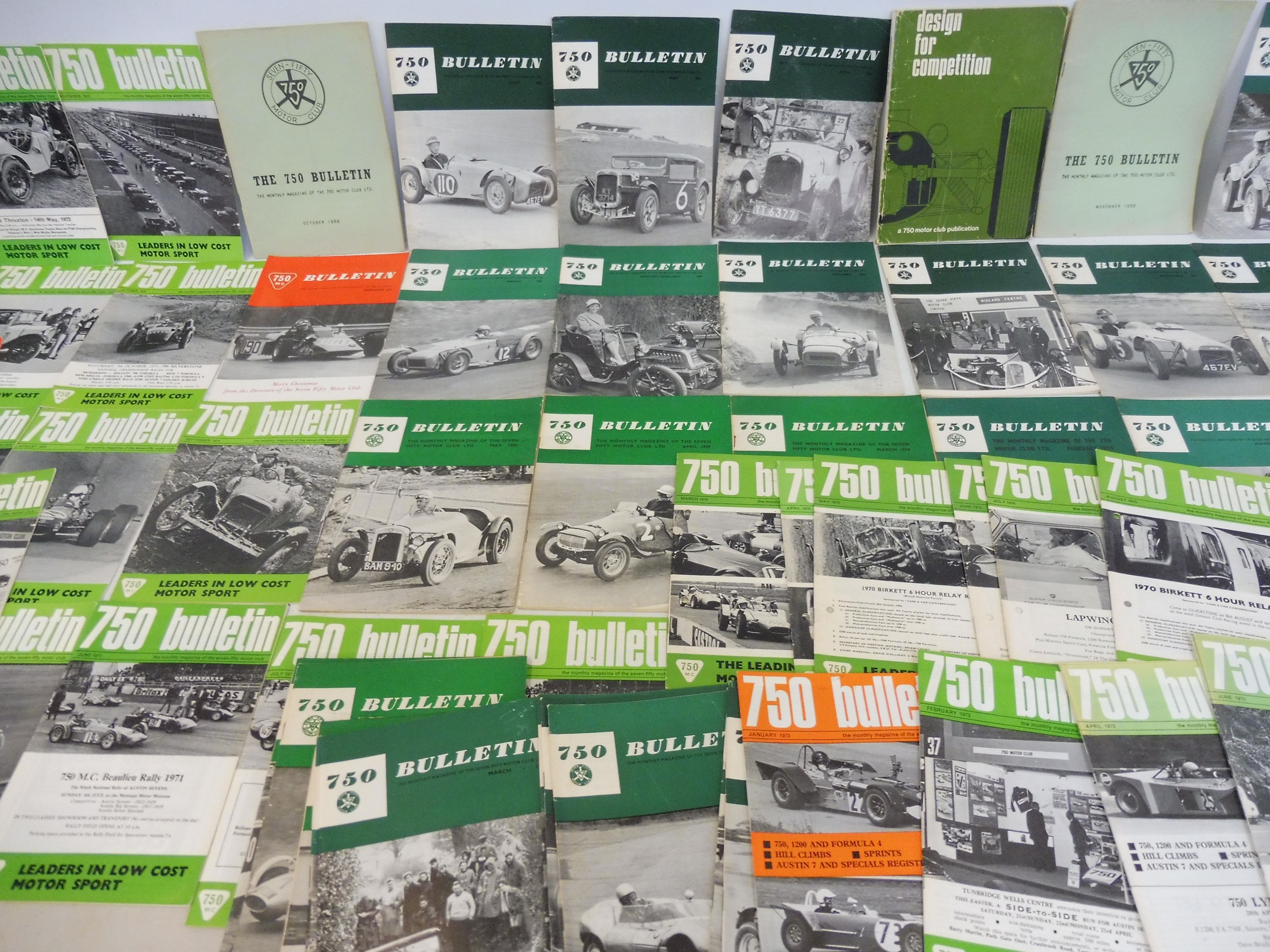 A small collection of 750 Club bulletins and related ephemera, various issues from 1958 including