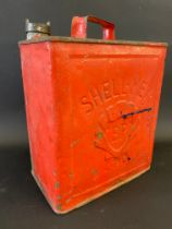 A Shell-Mex & BP Ltd two gallon petrol can by Valor, dated May 1939.