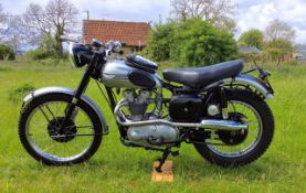 A replica of the Triumph 1954 Factory Team TR5 Trophy ISDT Bike