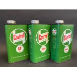Three Castrol Grease Oil quart cans.
