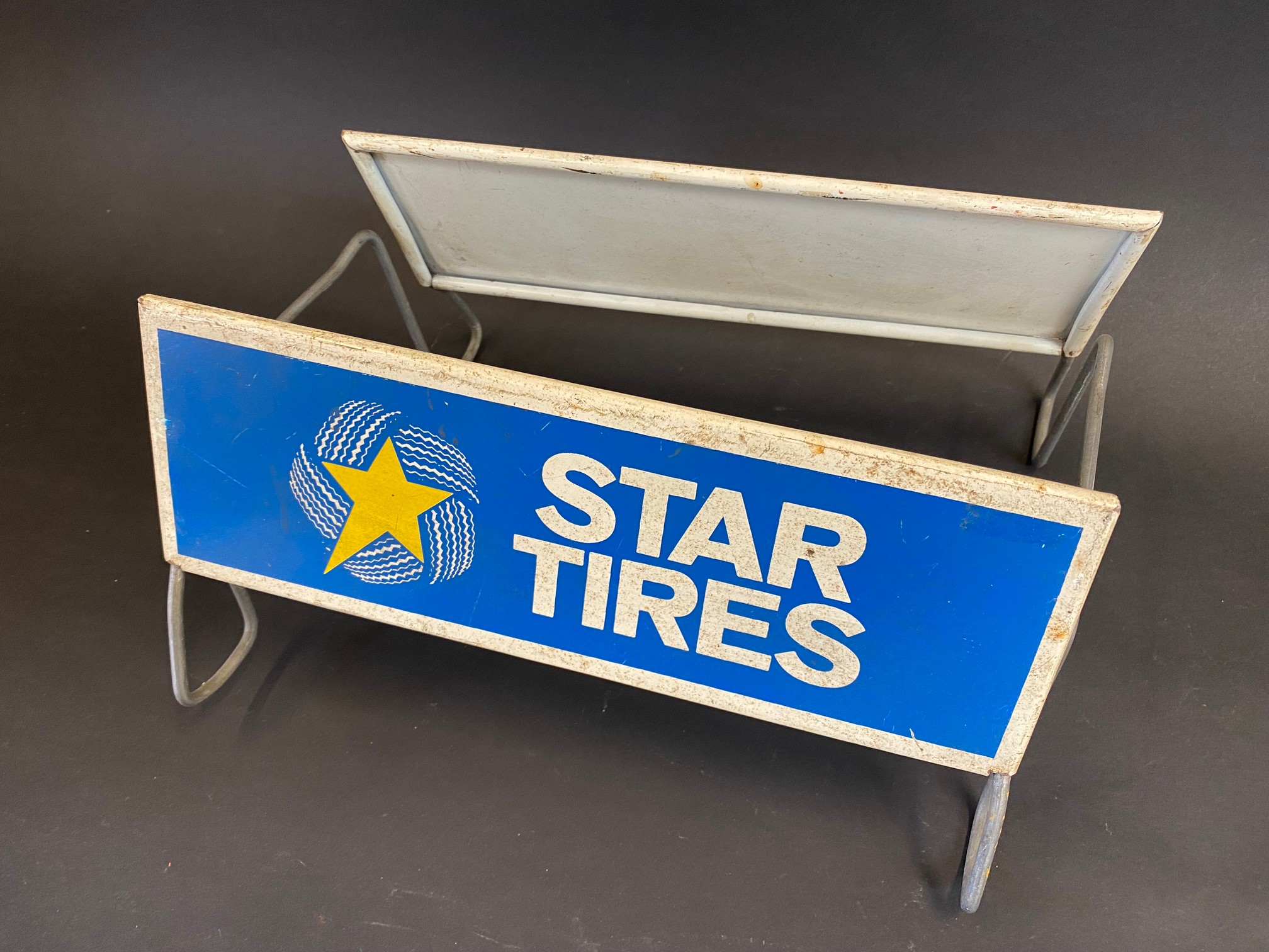 A Star Tires tyre display stand with advertising sign to both sides. - Image 2 of 2