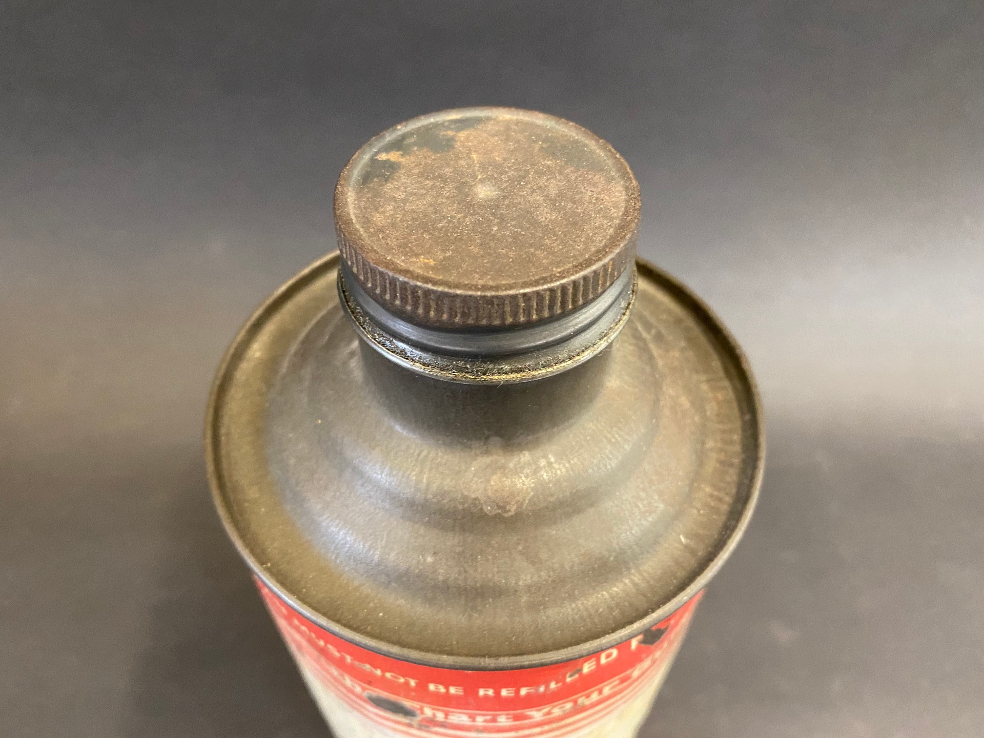 A Gargoyle Mobiloil 'C' for gears cylindrical quart oil can. - Image 3 of 4