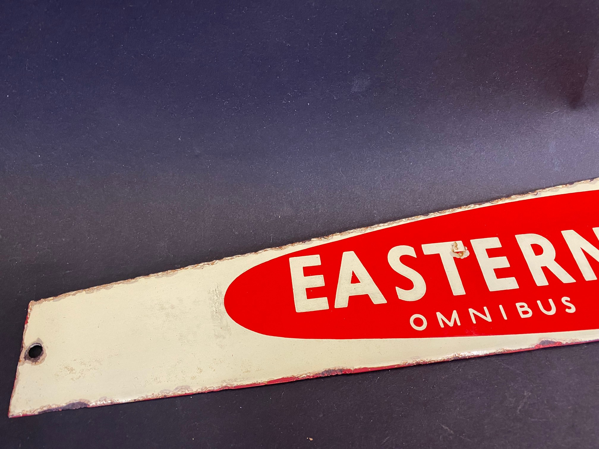 """An Eastern Counties enamel notice board header sign, 22 1/2 x 3 1/4"""". - Image 2 of 5"""