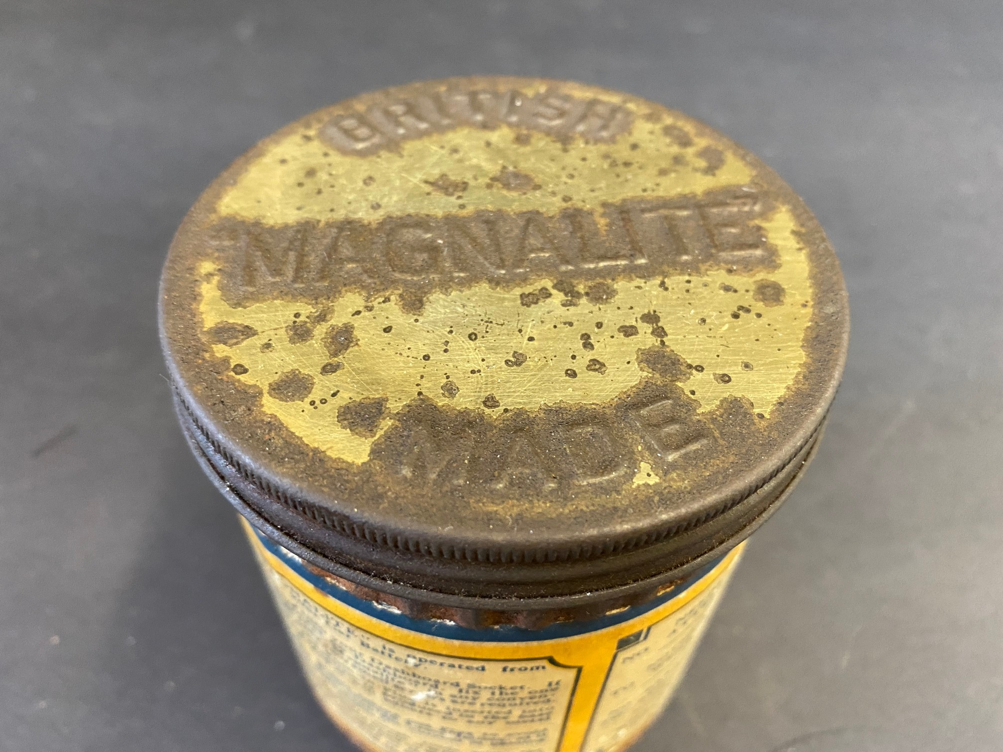 A 'Magnalite' tin with original inspection lamp contents. - Image 4 of 6