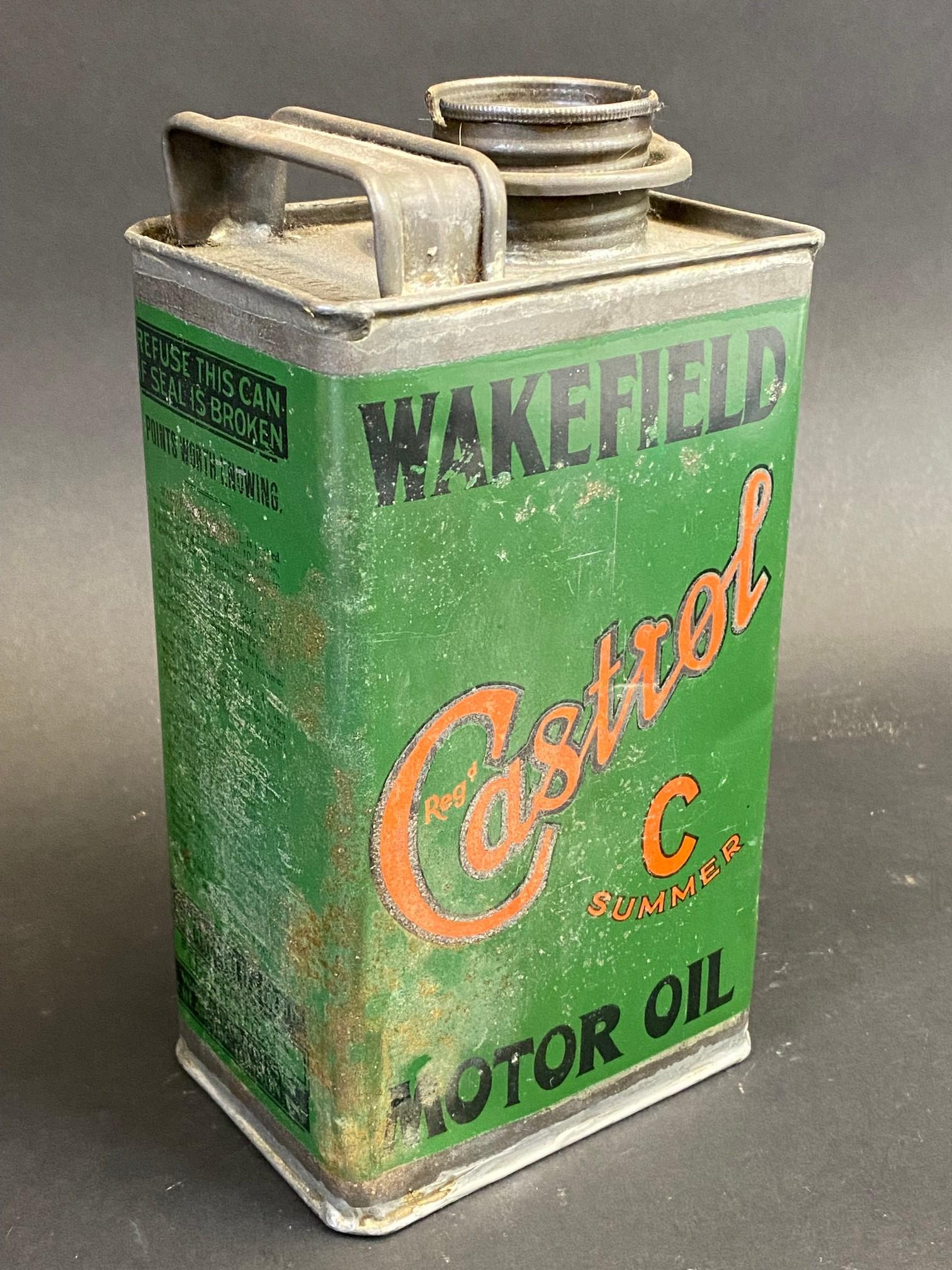 A Wakefield Castrol Motor Oil 'C Summer' grade rectangular quart can. - Image 2 of 4