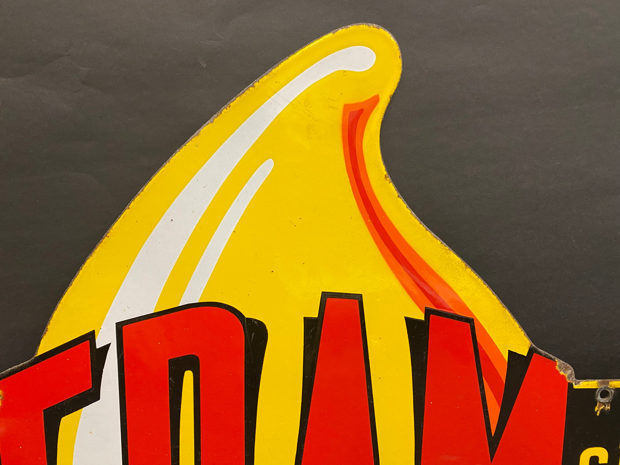 """A very rare Fram 'Official Service' die-cut double sided enamel sign in superb condition, 36 x 21"""". - Image 3 of 9"""