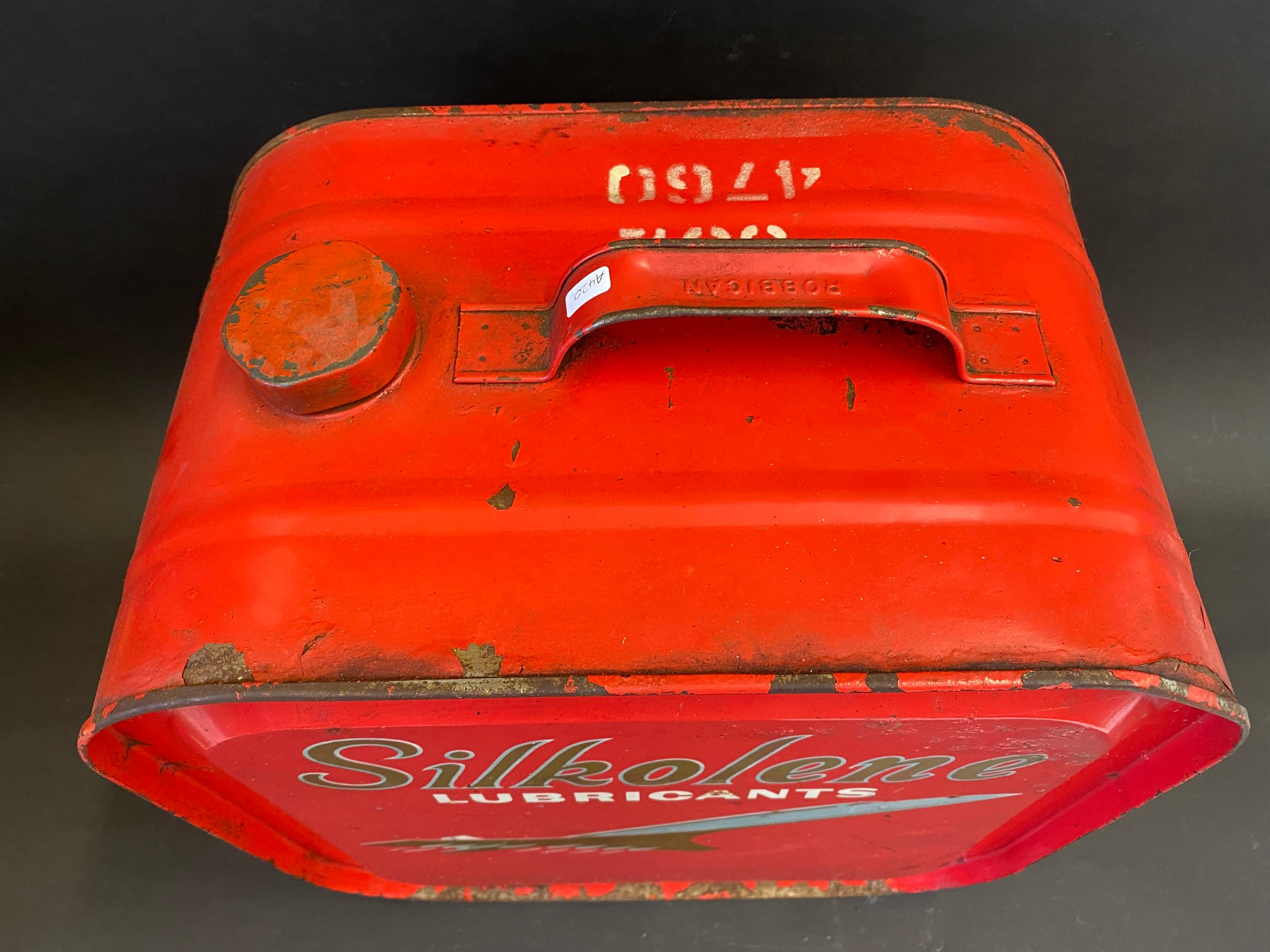 A Silkolene Lubricants five gallon drum with an image of Concorde to either side. - Image 3 of 4