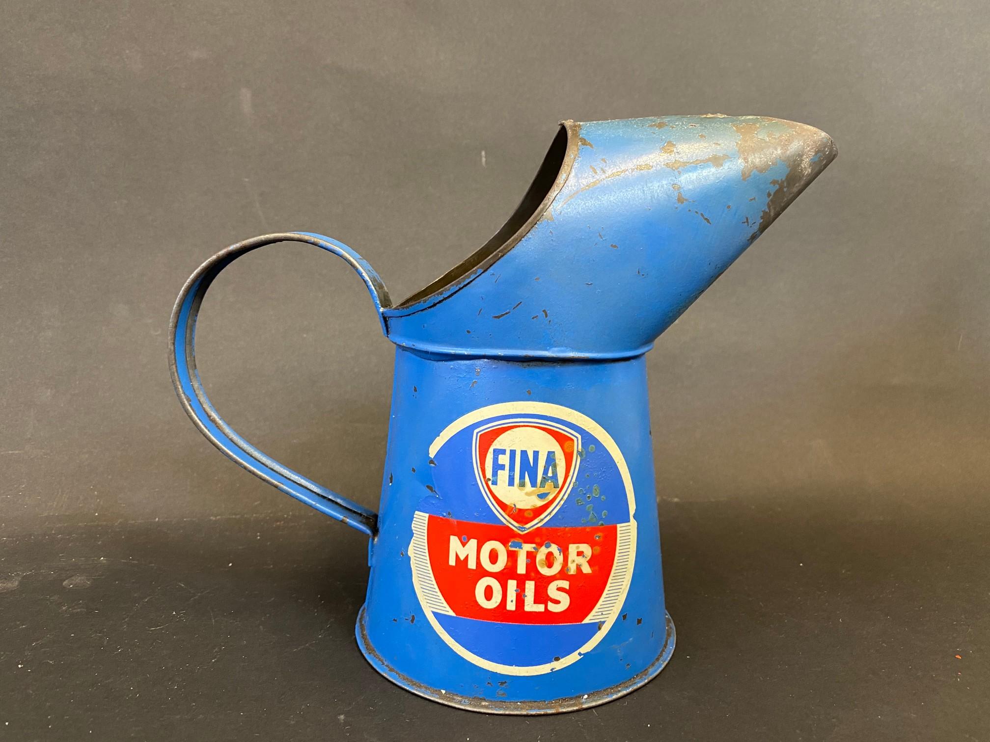 A Fina Motor Oils pint measure. - Image 2 of 4