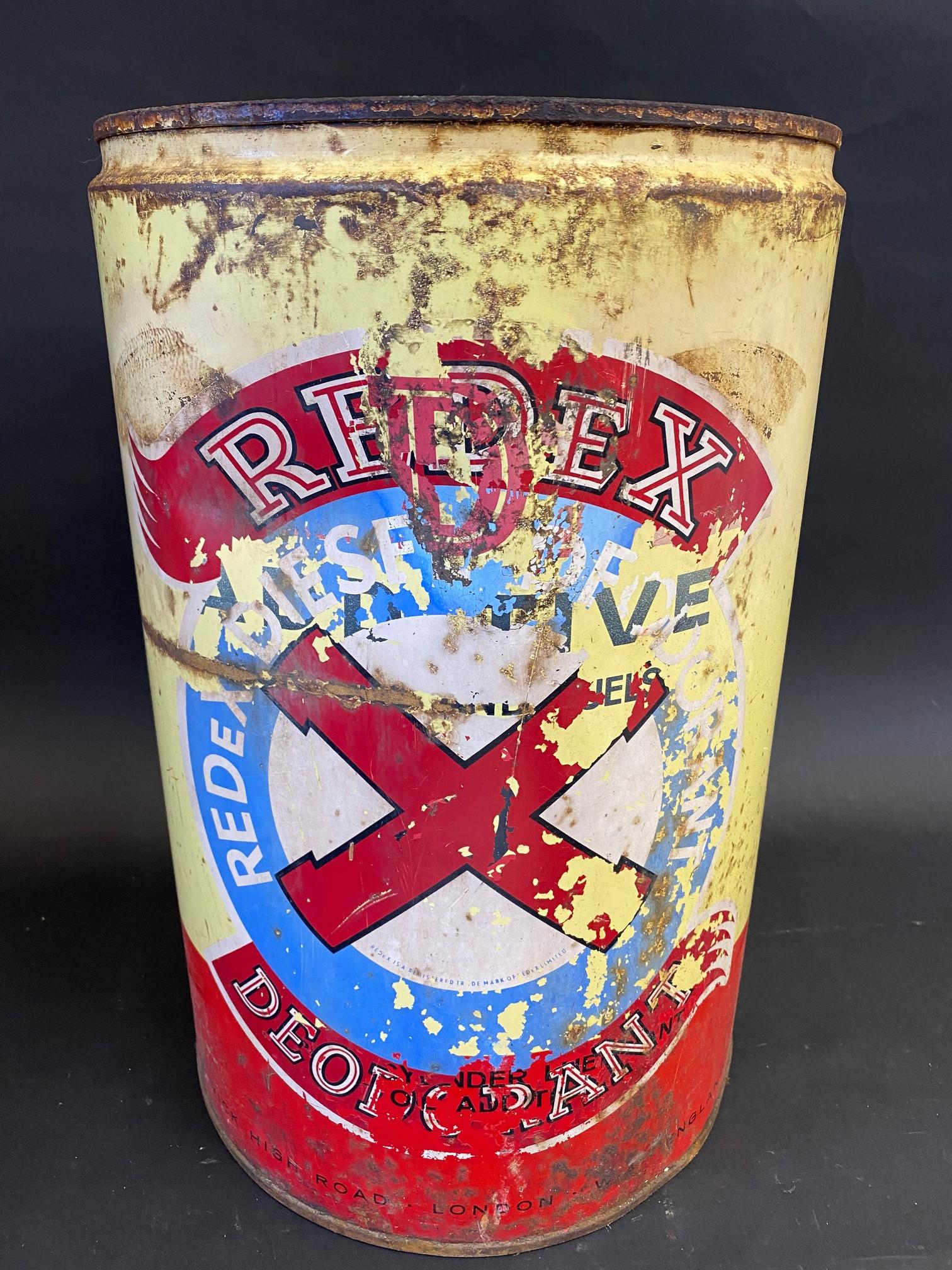 An unusual Redex five gallon drum for 'Redex Diesel Deodorant'. - Image 2 of 4