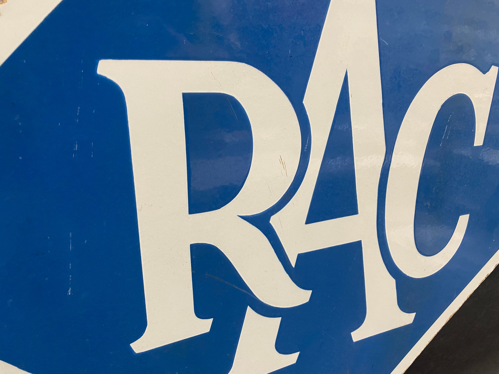 An RAC lozenge shaped double sided enamel sign with hanging hooks and a 'Registered Instructor' - Image 7 of 8