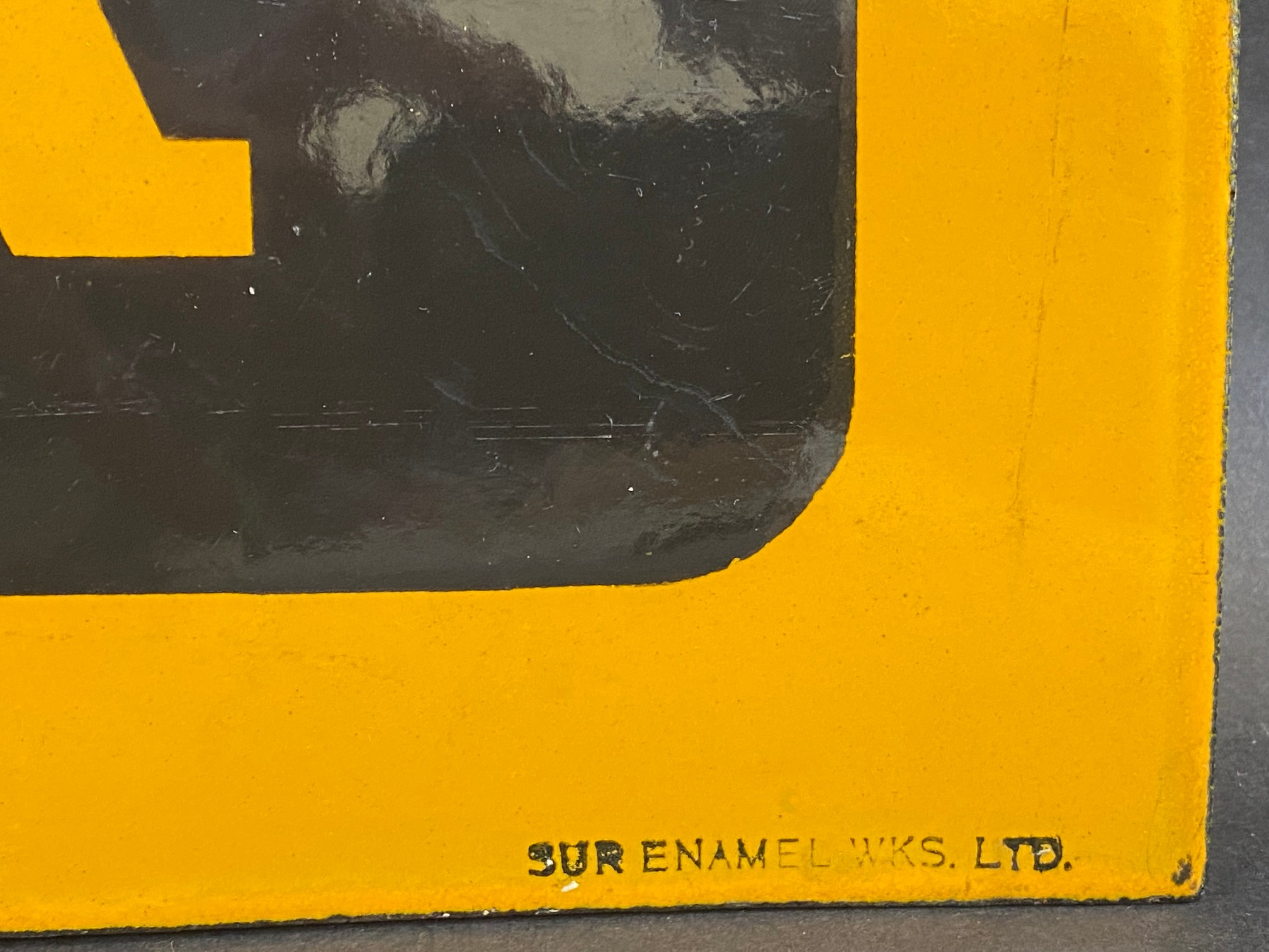 A Dunlop Stock double sided enamel sign with hanging flange, in near mint condition, made by Sur - Image 2 of 4