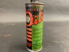 A Wakefield Castrol 'Oilit' cylindrical oiler in good condition.