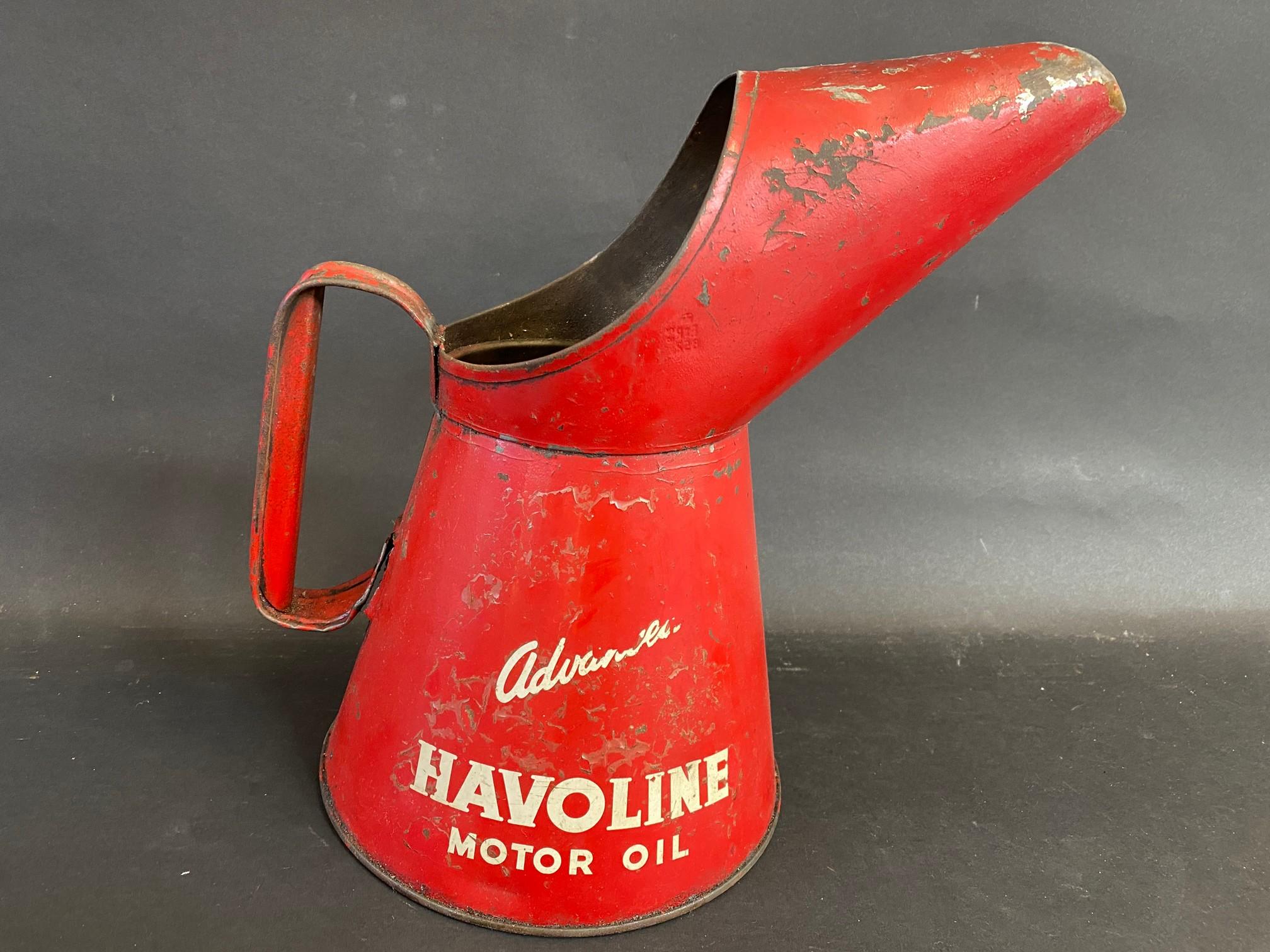 A Havoline Motor Oil half gallon measure. - Image 2 of 4