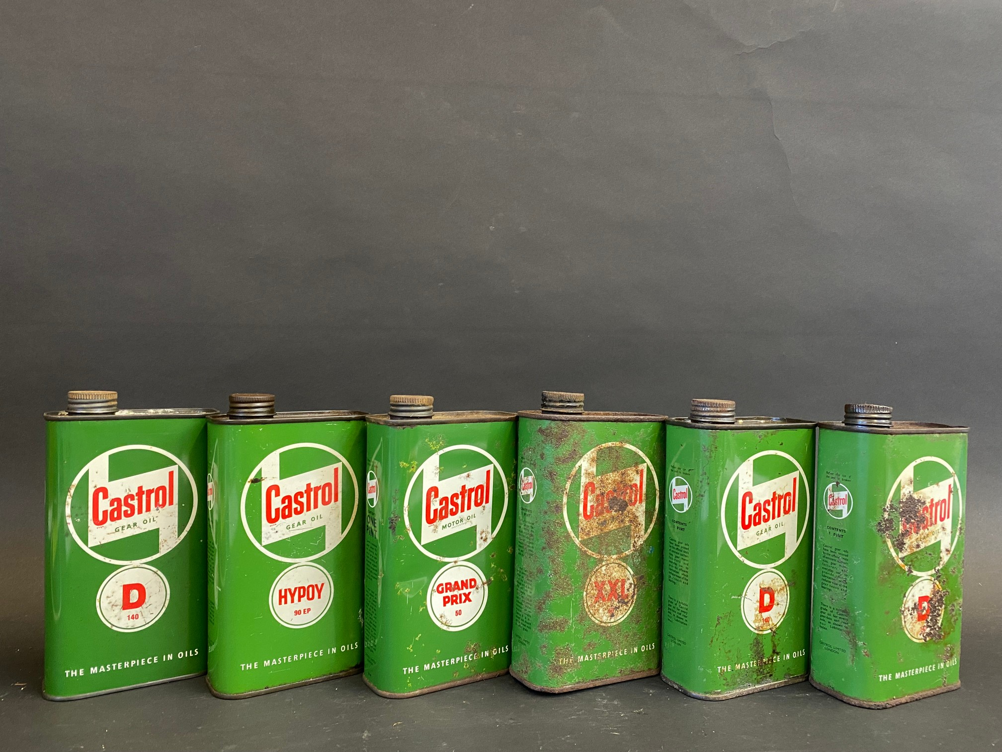 Six Castrol Gear and Motor Oil pint cans. - Image 2 of 2