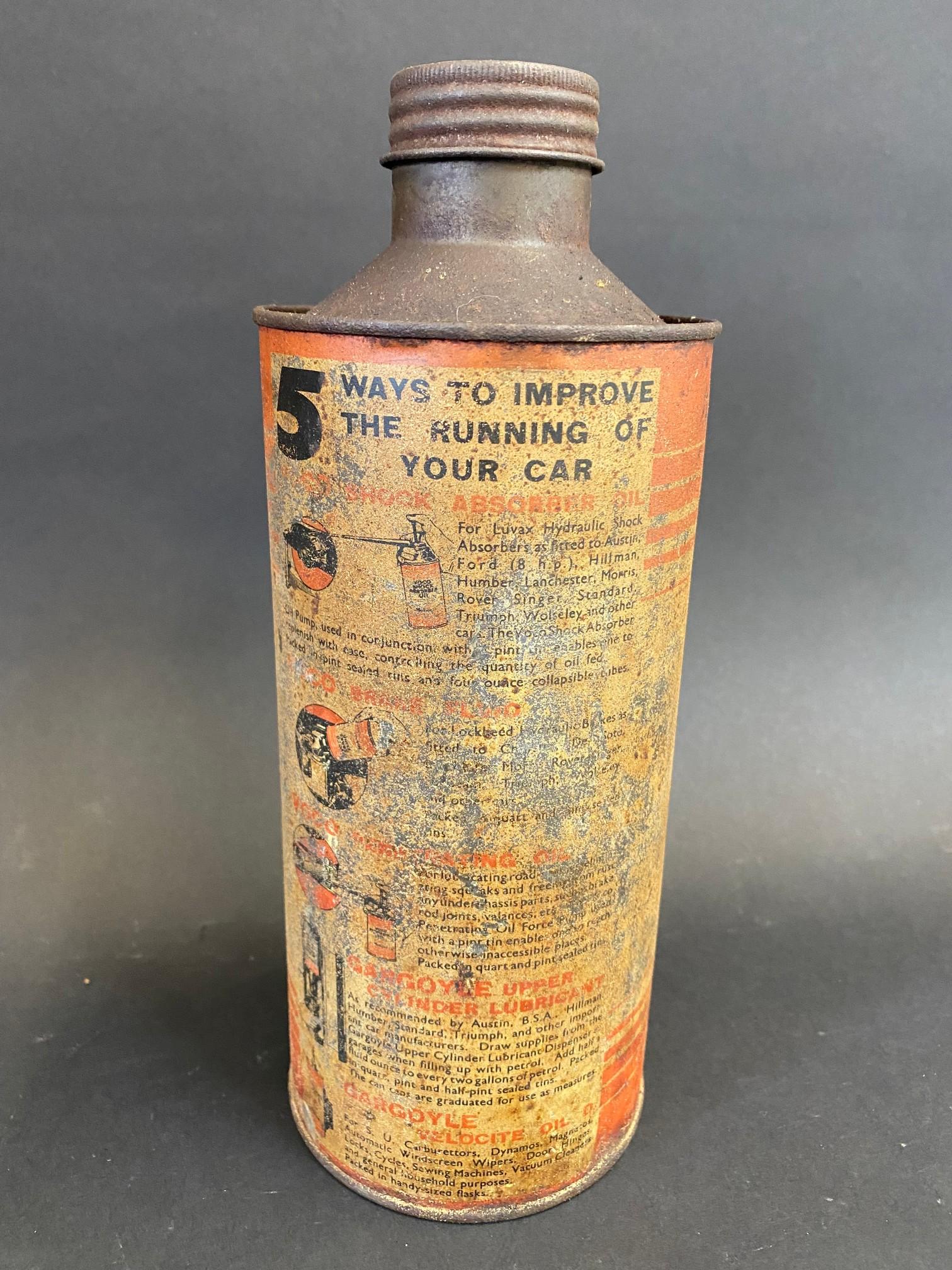 A 'Gargoyle Mobiloil 'C' grade cylindrical quart can. - Image 2 of 5