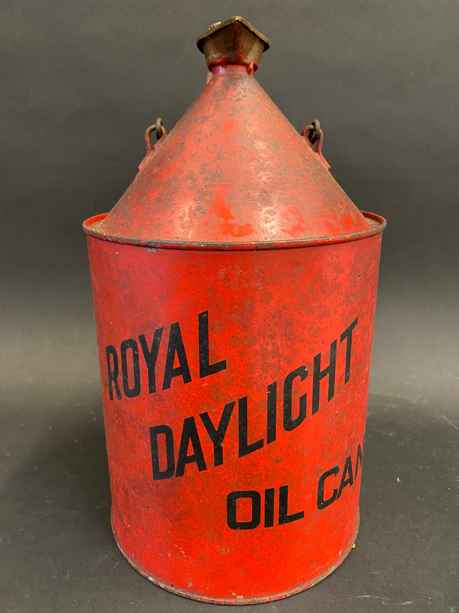 A Royal Daylight Oil can.