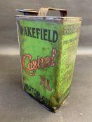 A Wakefield Castrol Motor Oil XL grade gallon can.