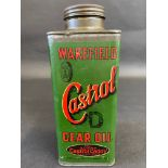 A Wakefield Castrol Gear Oil 'D' grade square caddy can, in very good condition.