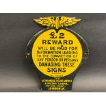 A superb AA £2 Reward enamel sign, these are very rarely in good condition, this example has