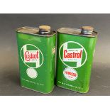 Two Wakefield Castrol Grease Oil pint cans, in good condition.