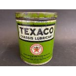 A Texaco Chassis Lubricant 2lb tin.