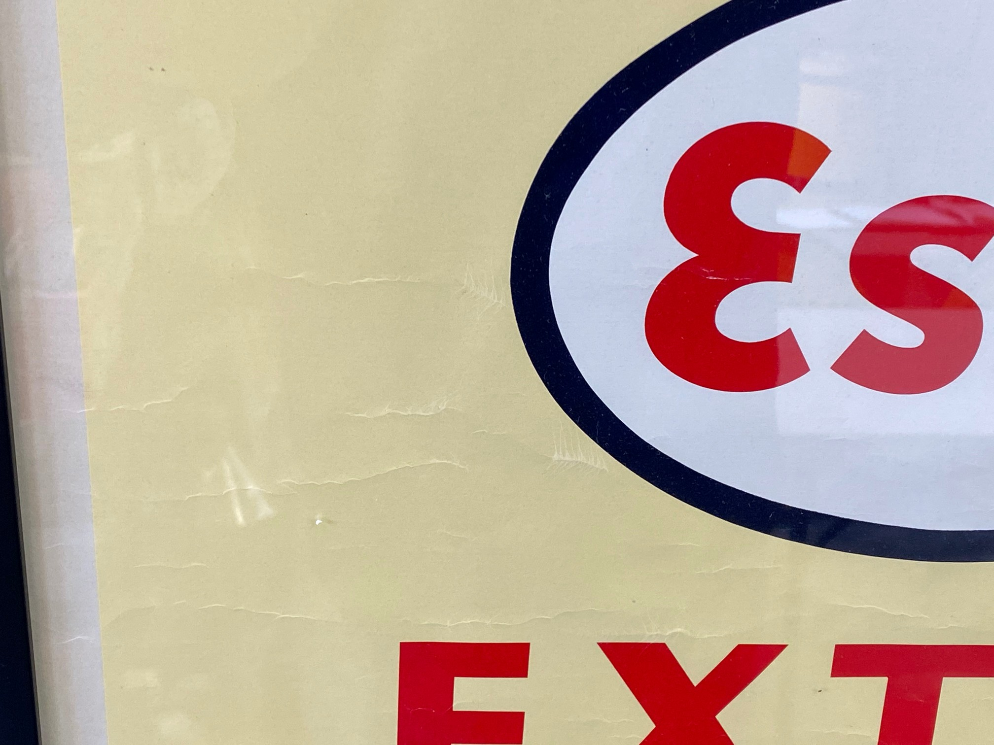 """An original Esso Extra Motor Oil advertisement, framed and glazed, 21 1/2 x 31 1/2"""". - Image 2 of 3"""