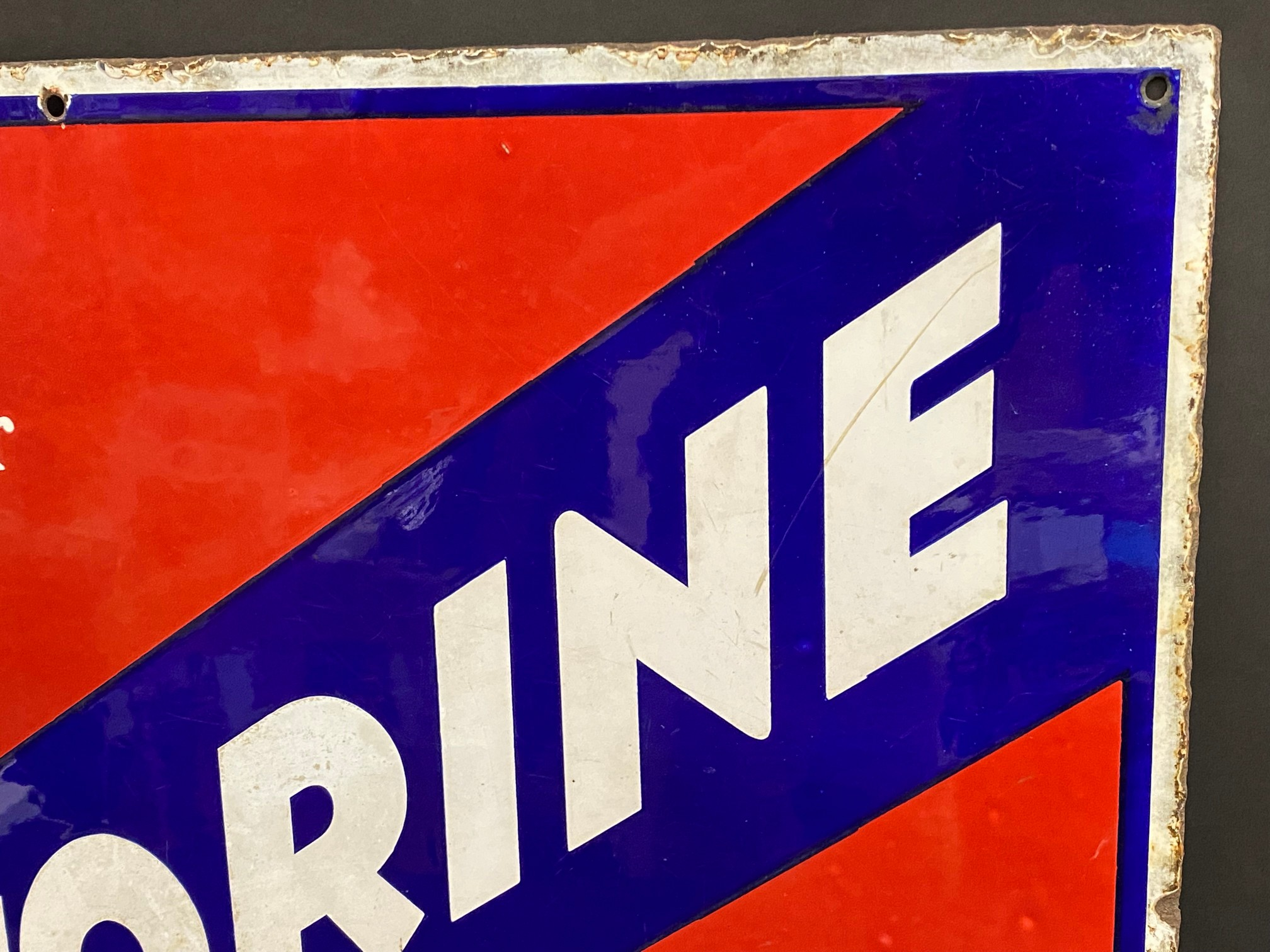 """A Price's Motorine rectangular enamel sign by Bruton of Palmers Green, 25 x 21"""". - Image 3 of 4"""