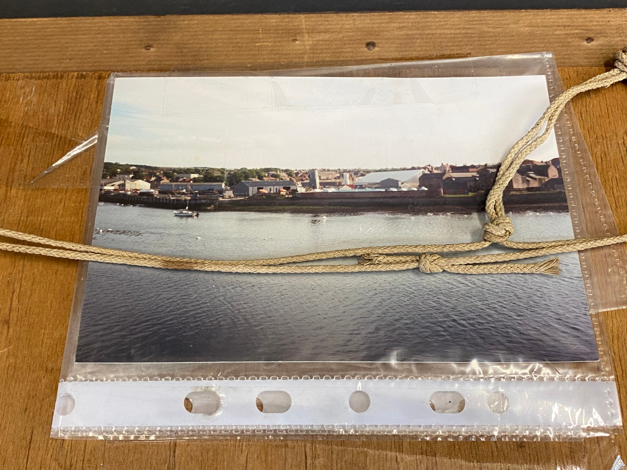 A framed original photograph of the Pratts Refinery at Berwick-upon-Tweed, probably a photograph - Image 2 of 3