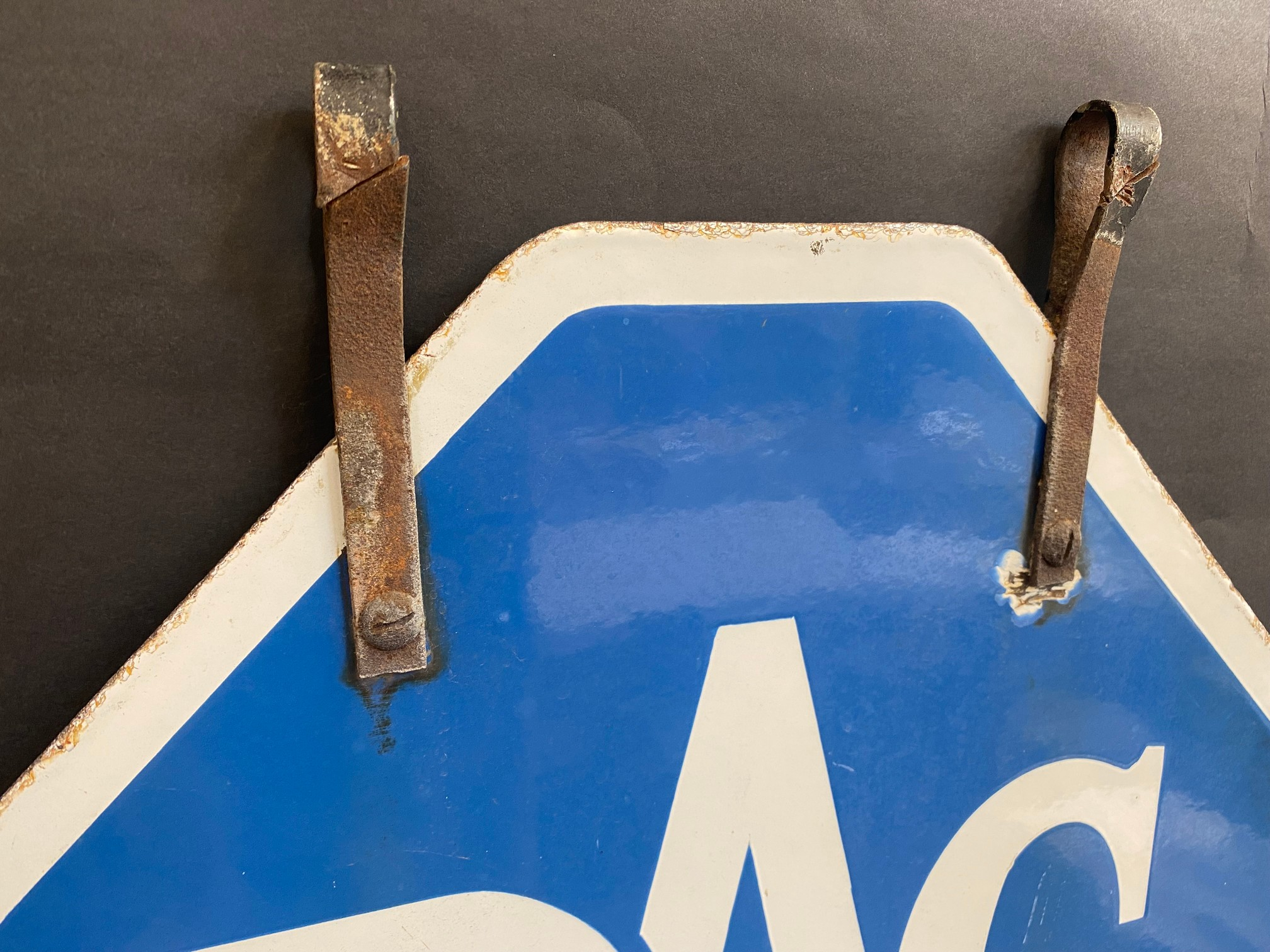 An RAC lozenge shaped double sided enamel sign with hanging hooks and a 'Registered Instructor' - Image 6 of 8