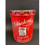 A Silkolene Lubricants large scale grease bucket/drum.