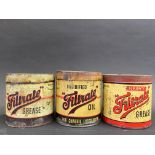 Two Filtrate grease tins and a third for Filtrate Solidified Oil.