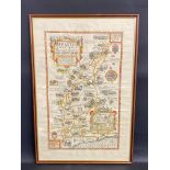 """A framed and glazed Pratts High Test Plan of the Roads to Goodwood, 21 x 31""""."""