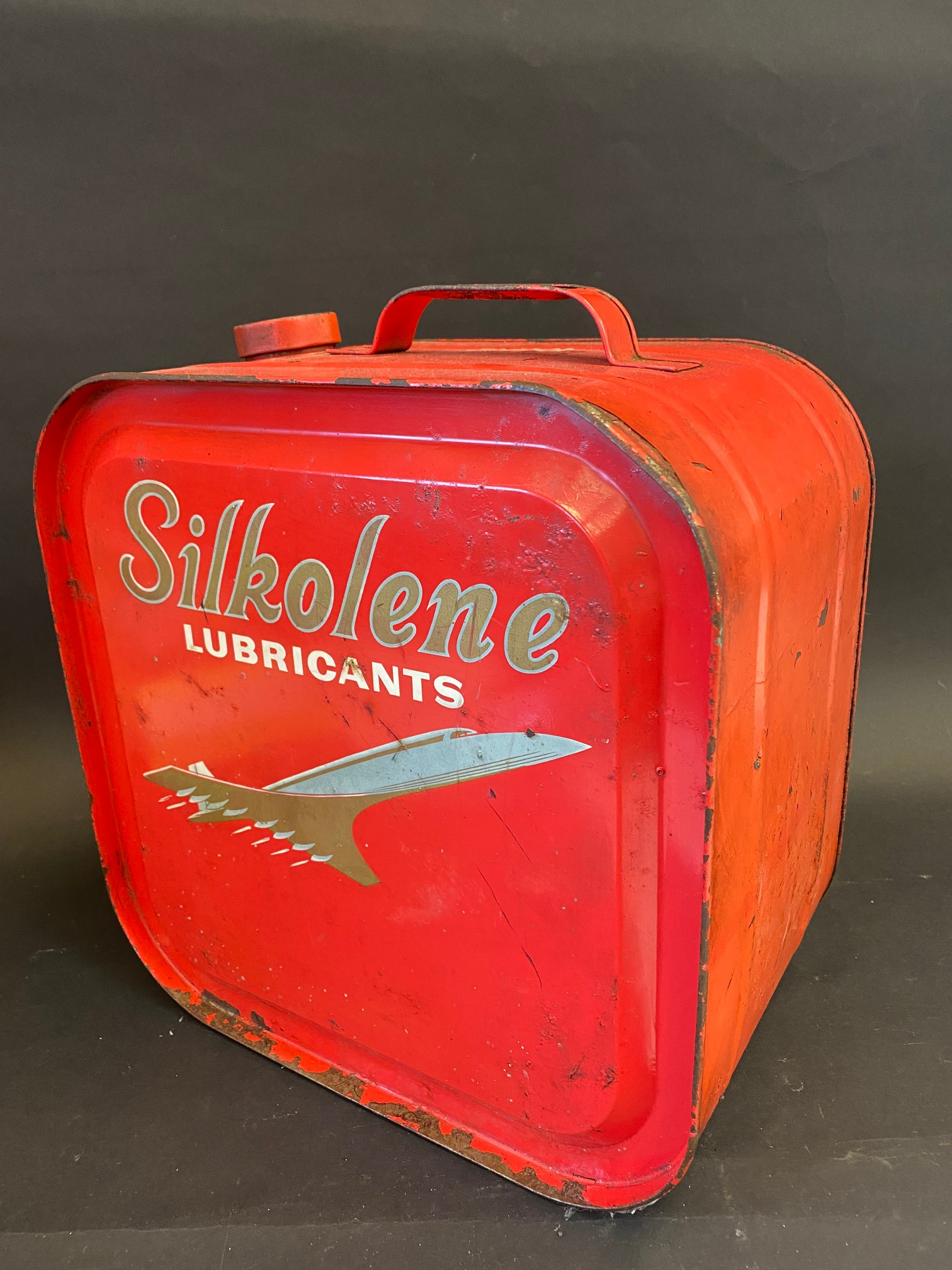 A Silkolene Lubricants five gallon drum with an image of Concorde to either side. - Image 2 of 4