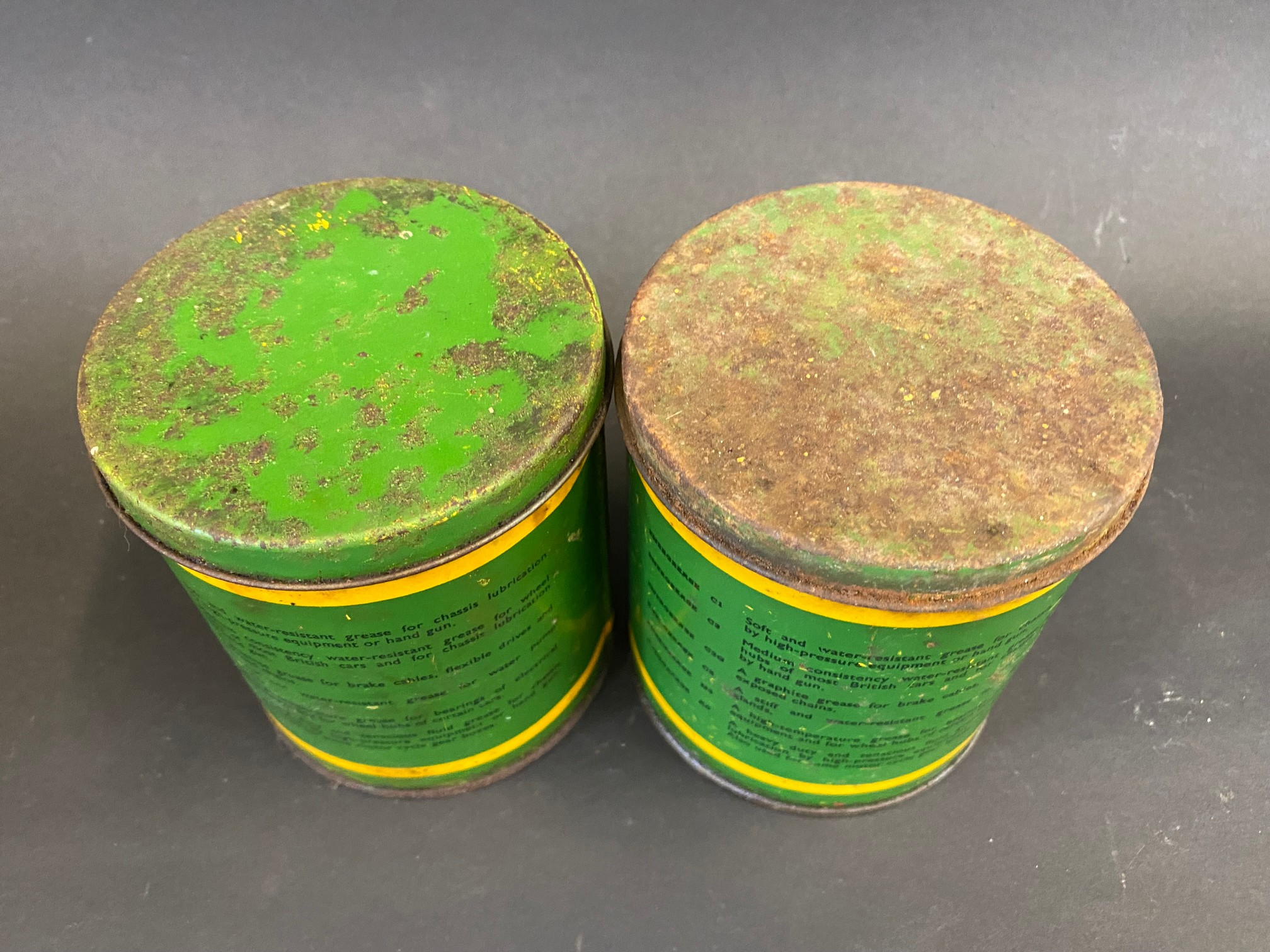 Two BP Energrease tins. - Image 3 of 4