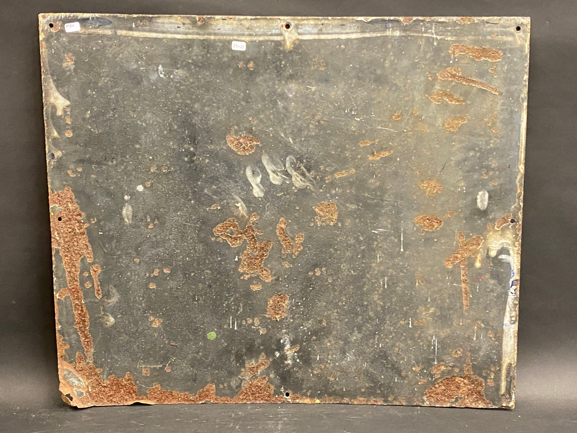 """A Price's Motorine rectangular enamel sign by Bruton of Palmers Green, 25 x 21"""". - Image 4 of 4"""