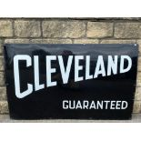 """A Cleveland Guaranteed rectangular enamel sign in superb condition, 48 x 30""""."""
