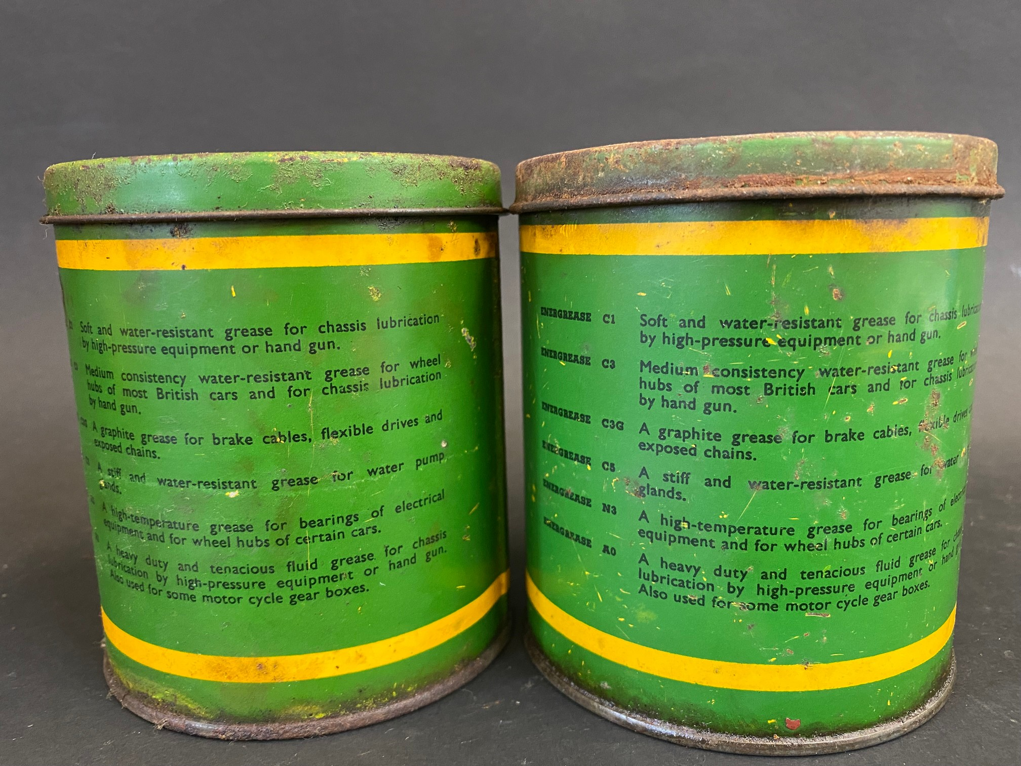 Two BP Energrease tins. - Image 2 of 4