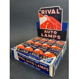 A counter top Rival Auto Lamps bulb dispensing box with a full set inside.