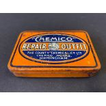 A small 'Chemico' Repair Outfit tin, with some original contents.