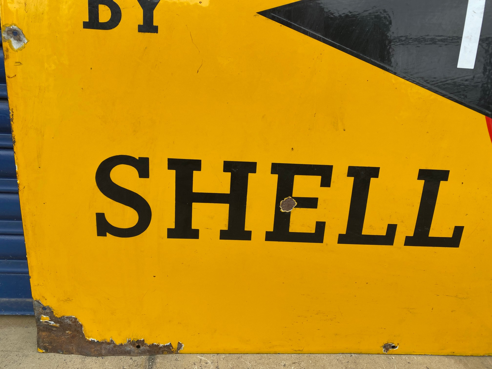 A rare Shell 'robert/stick man' Tecalemit Official Car Valeting Station rectangular enamel sign in - Image 3 of 7