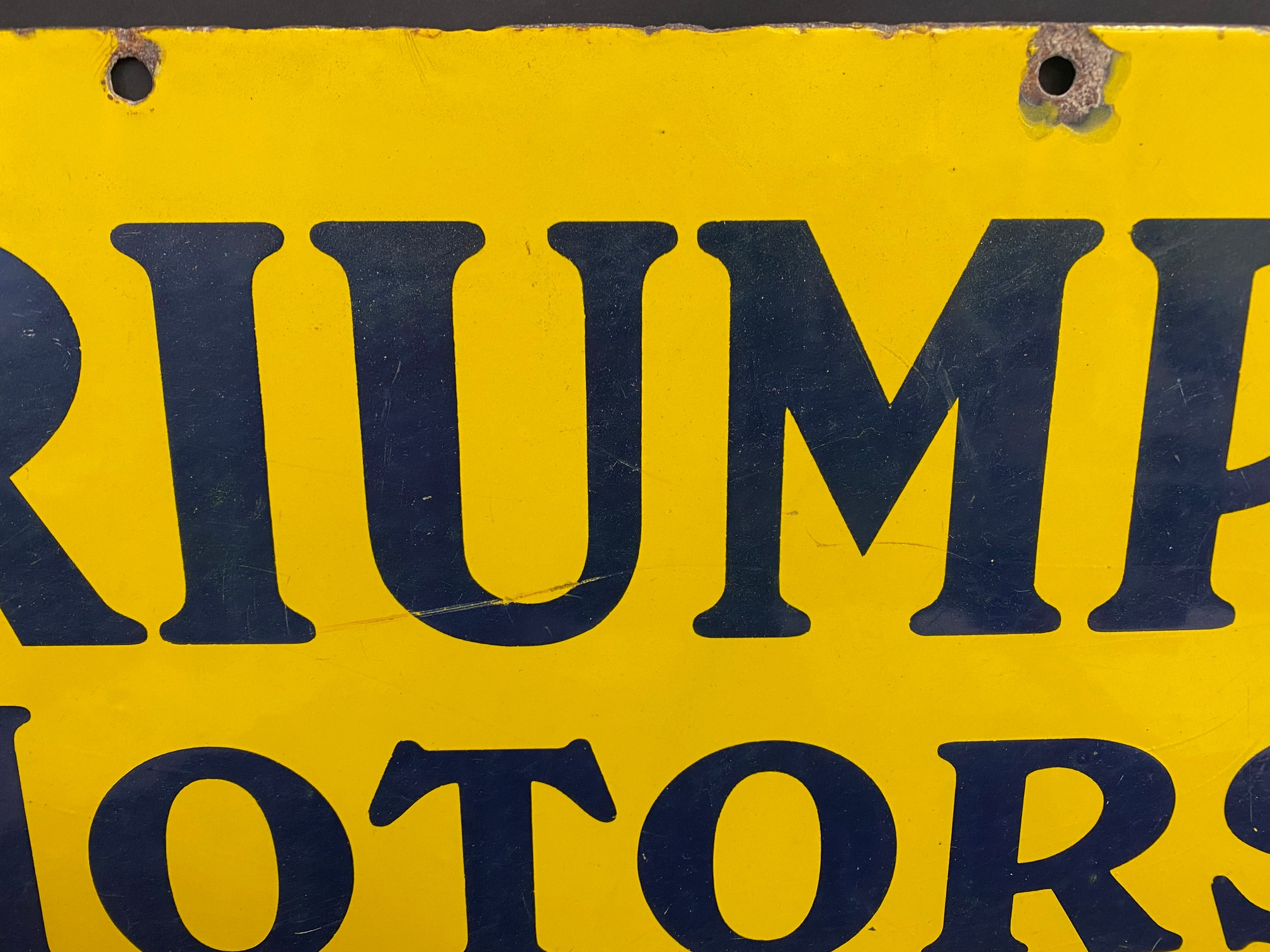 """A Triumph Motors on sale here rectangular enamel sign in excellent condition, 30 x 15"""". - Image 3 of 5"""