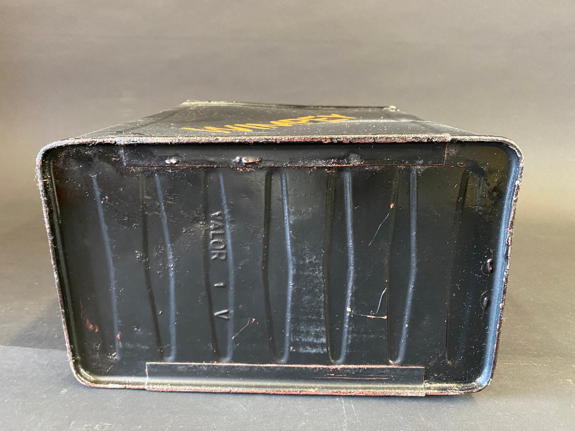 A Wimpey two gallon petrol can by Valor, dated IV, repainted, plain cap. - Image 4 of 4